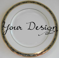 Customized Black and Gold Dishes, Personalized Plates,