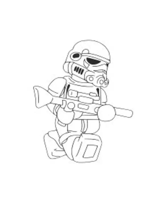 Lego Darth Vader and Storm Trooper SVG Cut Files for Cricut