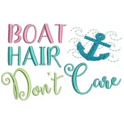 boat hair don't care embroidery