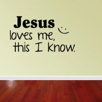 Wall Decal Quote Jesus Loves Me This I Know by vinylwordsdecor