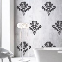 Damask Wall Accent Stickers Wall Mask Decals Damask Style