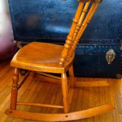 Antique Child Rocking Chair Casters For Office Chairs On Carpet Armless Rocker Wooden Sewing