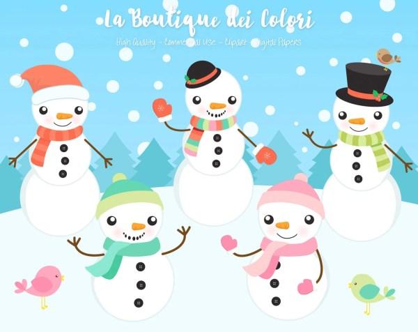 snowman clipart cute graphics
