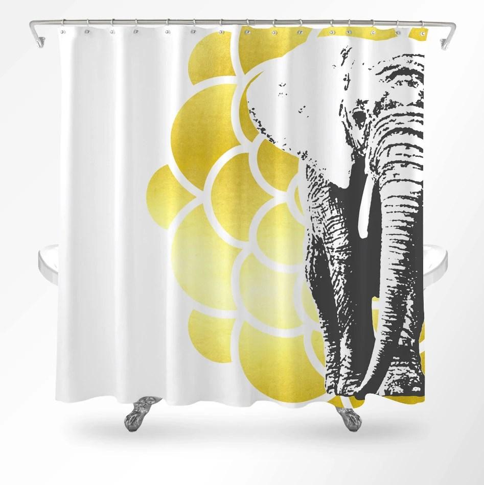 Elephant Shower Curtain Mandala Shower Curtain Shower