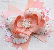 items similar peach hair bow