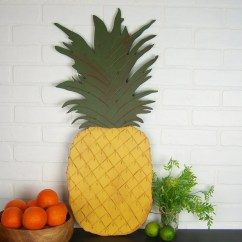 Pineapple Decorations For Kitchen Glass Cabinet Doors Decor Sign Tropical