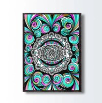 Trippy Paisley Colorful Drawing Zentangle Psychedelic Art
