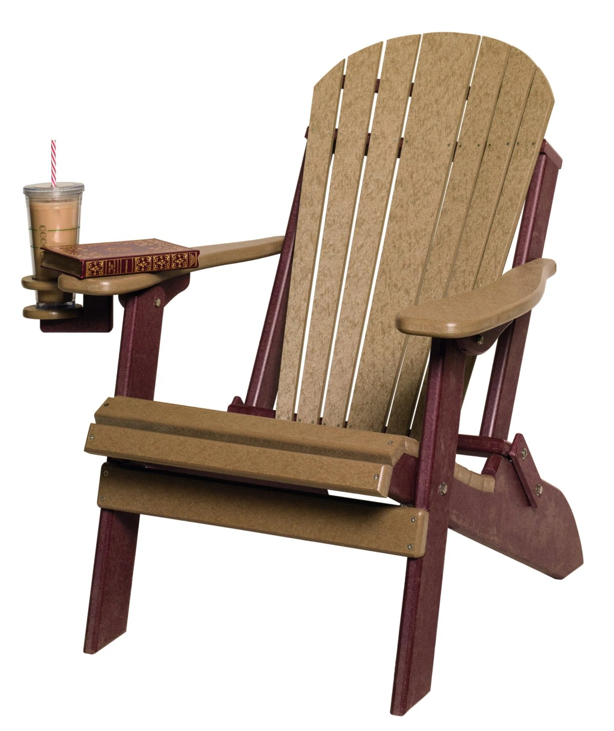 Foldable Adirondack Chair Recycled Poly Lumber Folding Adirondack Chair Black Brown