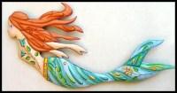 Mermaid Art Painted Metal Wall Hanging Mermaid Wall Decor