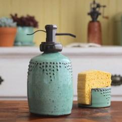 Kitchen Dish Soap Dispenser Unfinished Oak Cabinets Home Depot Bottle In Aqua Mist Lotion Or