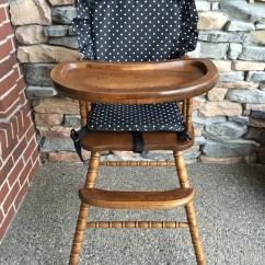First Step High Chair Black Resin Chairs Cover. Pad. Cushion.