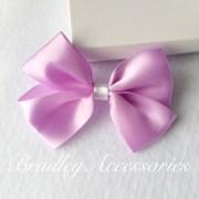 purple boutique hair bow