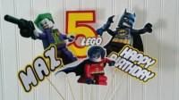 Lego Batman Robin Party Centerpiece Picks lego by ...
