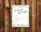 DIGITAL - Wishes for the Couple Advice Cards Bridal Shower Gold Bling Mint Stripe Printable Download Wedding Bridal Cards for the Bride