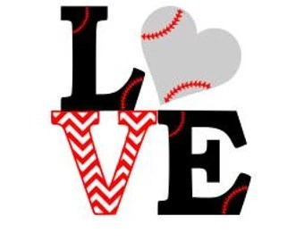 Download Svg love baseball | Etsy