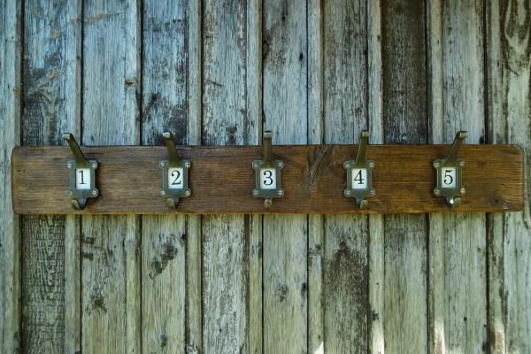Reclaimed Wood Coat Rack Hooks