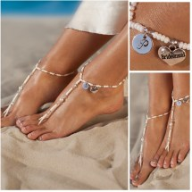Personalized Jewelry Bridesmaid Unique Barefoot