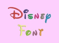 Disney Embroidery Font - 5 Size Embroidery Designs ...