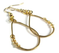 Gold loop earrings gold hoop earrings gold by TCBeadsJewelry