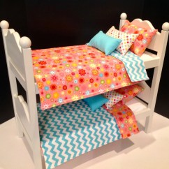 American Girl Doll Chairs Outdoor Chair Pads Furniture White Bunk Beds By