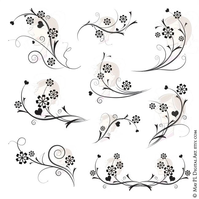 Vintage Whimsical Cute Clip Art: BUY 3 GET 1 by