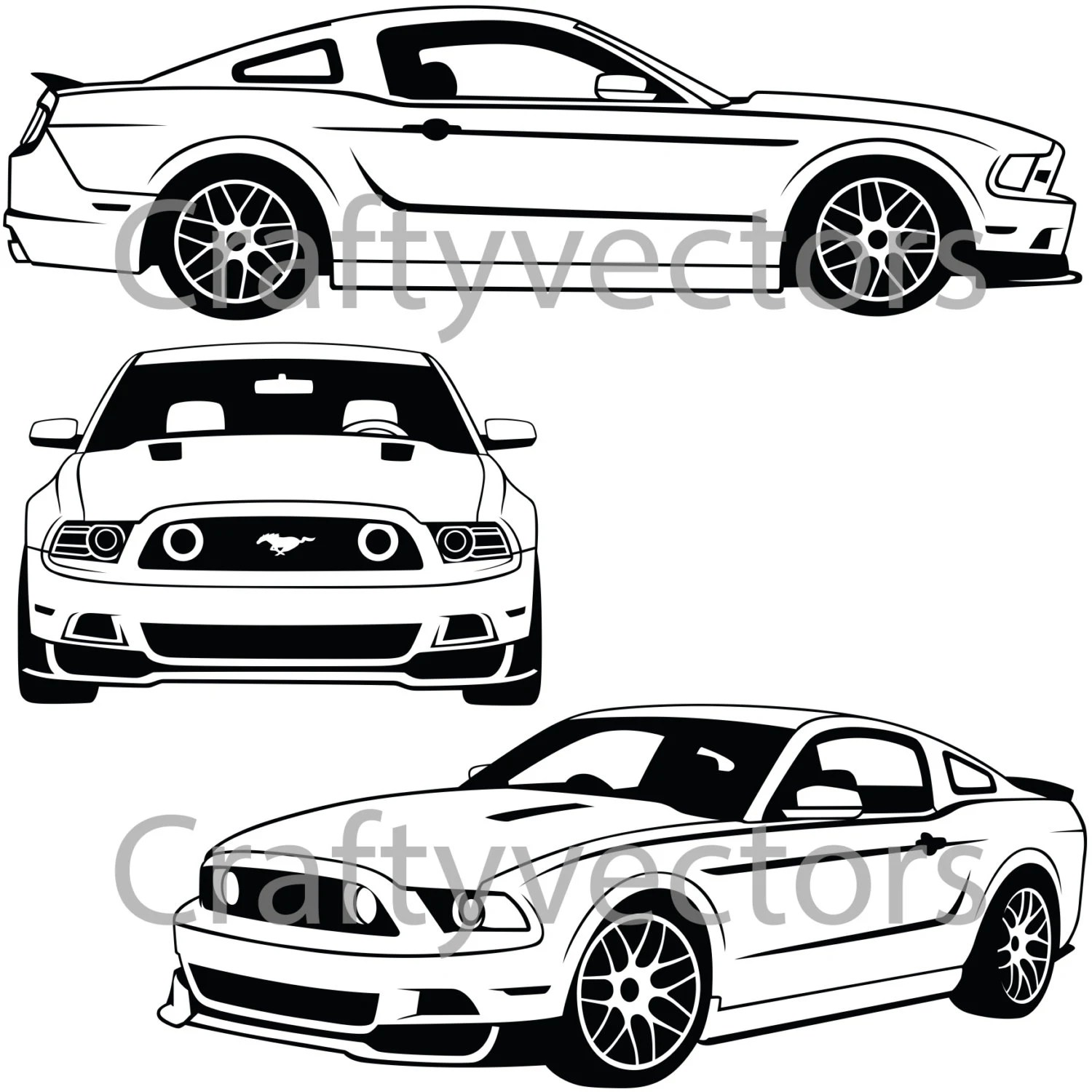 Ford Mustang 2013 Vector File