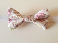 Pink & Gold Bow Tie for Boys