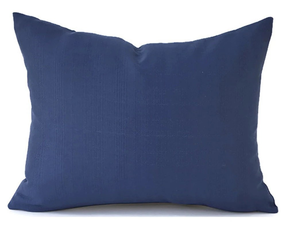 60 CLEARANCE SALE Outdoor Navy Lumbar Pillow Decorative