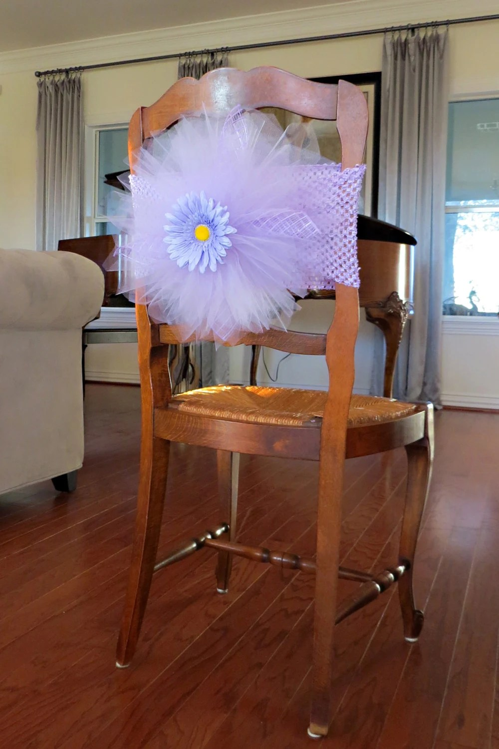 elastic chair covers for weddings snorlax bean bag review tulle cover tutu burst bridal shower baby
