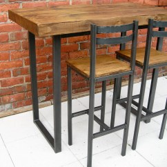 High Chair That Attaches To Counter Office Good For Back Breakfast Bar Table And Stools Rustic Industrial