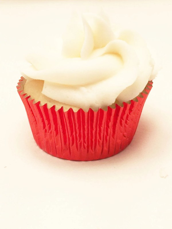 48 Red Foil MINI Size Cupcake Liners Baking Cups Wrappers