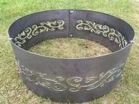 Metal Fire Pit/Fire Ring Swirls