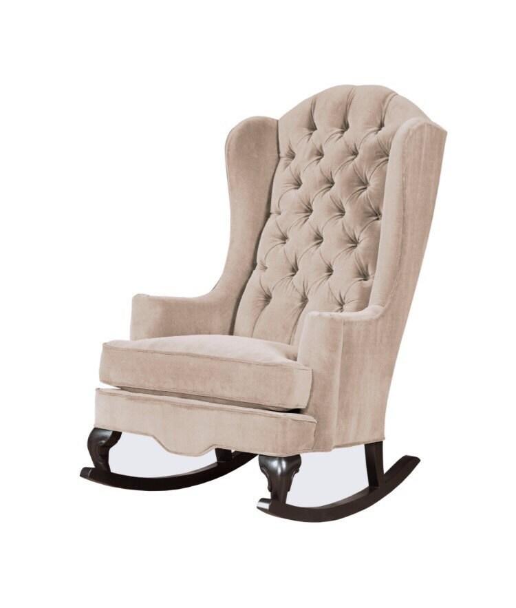Fitzgerald Rocker Velvet Tufted Rocking Chair available