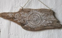 Small Painted Driftwood Painted Driftwood Wall HangingBoho