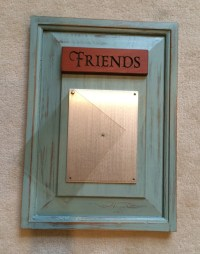 Upcycled Picture Frame,Wooden Picture Frame, Duck Egg Blue ...