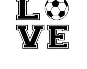 Download Soccer love svg | Etsy