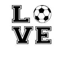 Soccer, Love, SVG File. For Silhouette or Cricut Machines