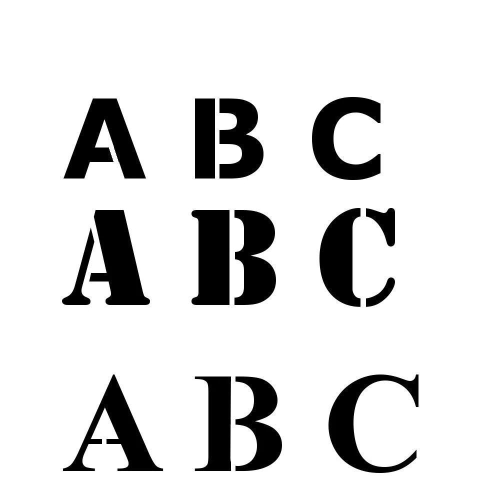 Alphabet Stencil Reusable