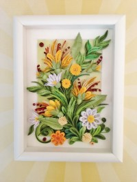 Quilling Wall Art. Quilling Flower Art. Quilling Picture.