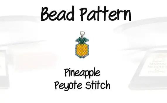 Aloha Pineapple Pattern Seed Bead Weaving PDF File
