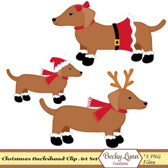 dachshund christmas clip art