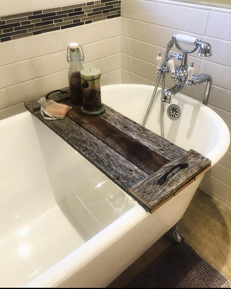 Reclaimed Wood Bath Caddy Christmas Gift by FernwehReclaimedWood