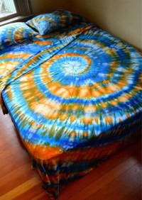 trippy bed sheets hand dyed queen sheet set tie dye ...