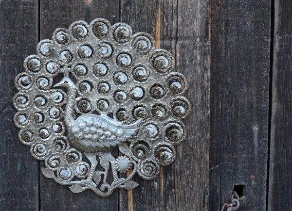Peacock Wall Decor Recycled Metal Art 22 X