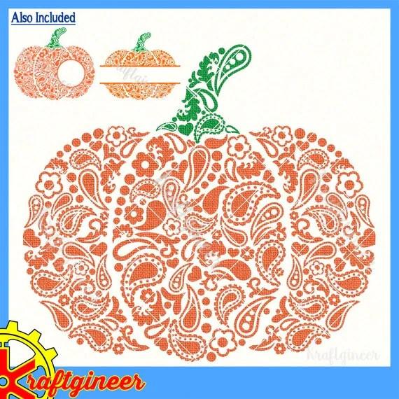 paisley pumpkin svg swirly