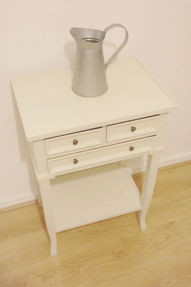 Vintage Bedside Table Coffee Table Painted In Farrow And Ball Off White Haute Juice