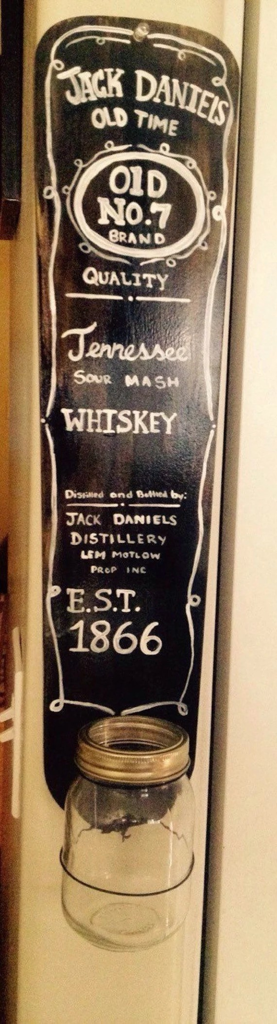 Jack daniels wall decor by Rockabillymadness on Etsy