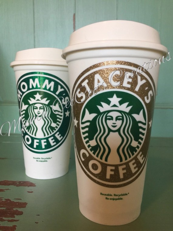 Glitter! Reusable & Personalized Starbucks Cup - Go Green with style!