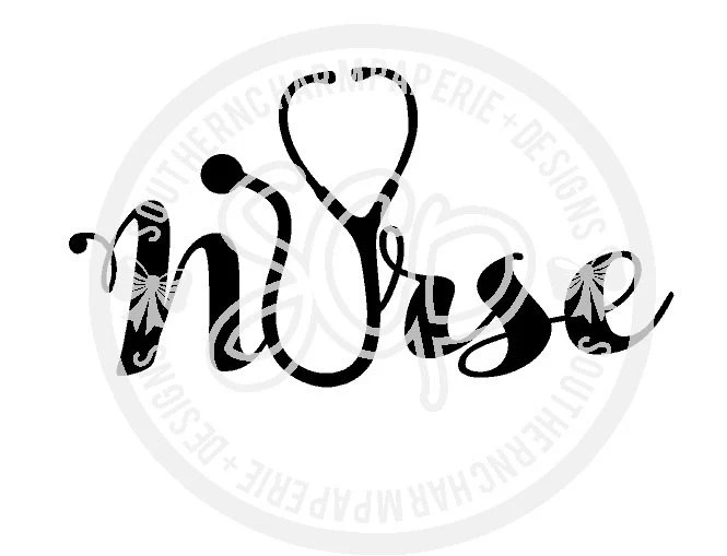 NURSE Stethoscope SVG Cut File Medical RN Registered Nurse