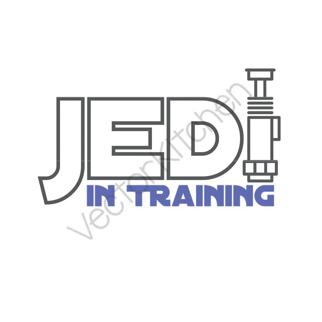 Jedi in Training Lightsaber Cutting Template SVG EPS
